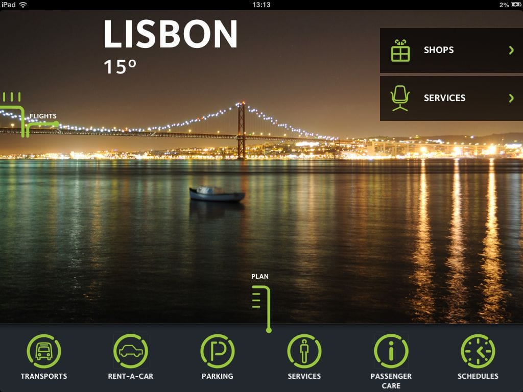 Lisbon's Airport Plan Section at ANA Airports Mobile App