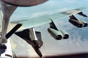 B52H carrying a D21B. (U.S. Air Force photo)