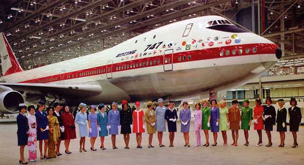 Boeing 747 roll-out ceremony. 30th of september 1968