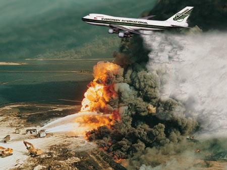An Evergreen 747 ex