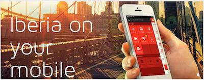 Iberia App for smartphones.