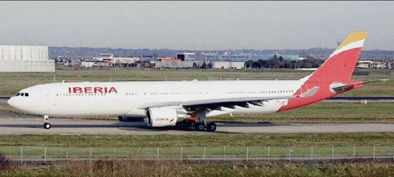 Spotter's photo of a A330 with supposed new Iberia's livery.