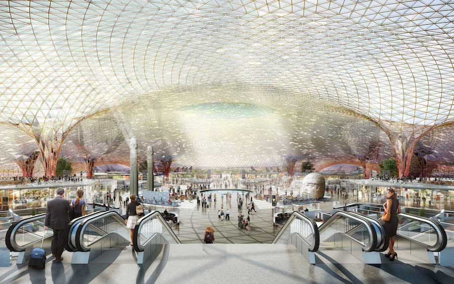 New AICM Terminal projected for 2018. Image Credit Foster+Partners www.fosterandpartners.com