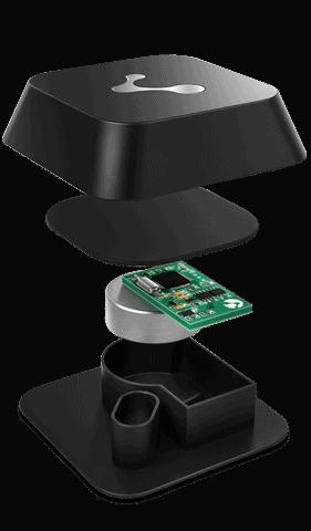 A beacon device. Credit image Kontakt.io