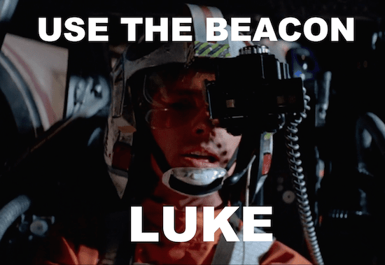 Be the beacon signal be with you. Credit: Disney (LucasFilms)